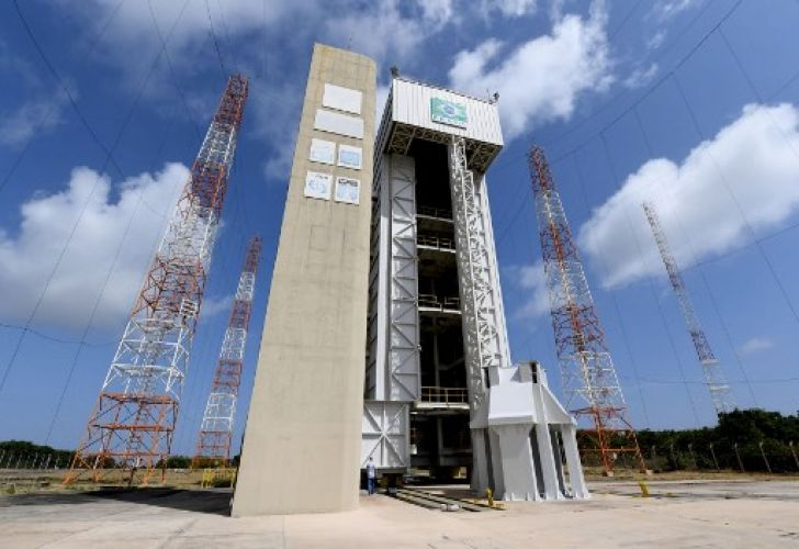 The rocket launch tower at Alcantara Launch Center (CLA), which will now serve as a base for US satellites.
