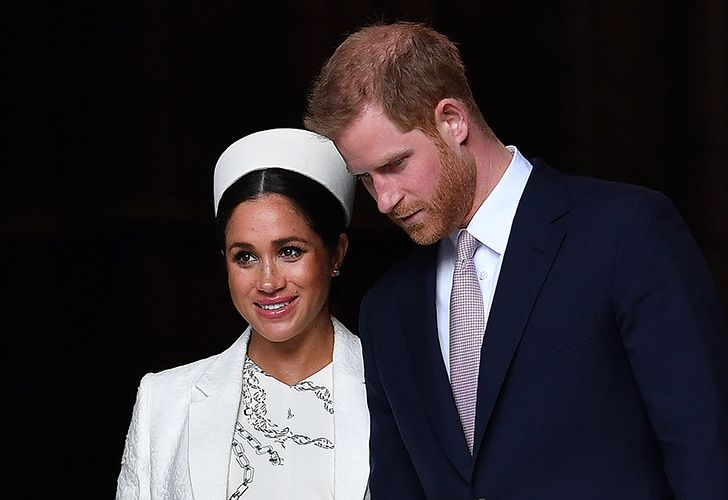 In this file photo taken on March 11, 2019, Britain's Prince Harry, Duke of Sussex (right) and Meghan, Duchess of Sussex leave after attending a Commonwealth Day Service at Westminster Abbey in central London. Prince Harry's wife Meghan went into labour early on May 6, 2019, Buckingham Palace announced.