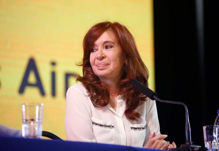 Cristina Fernández de Kirchner at the official launch of her memoirs at the Buenos Aires Book Fair, on May 9, 2019.