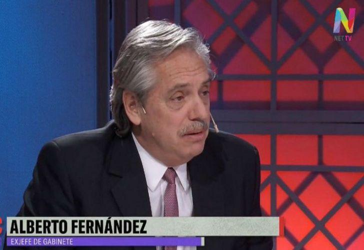 Alberto Fernández on Net TV's 'Correa del Centro' programme.